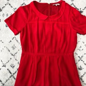 Broadwell & Broome Red Collared Soda Shop Dress